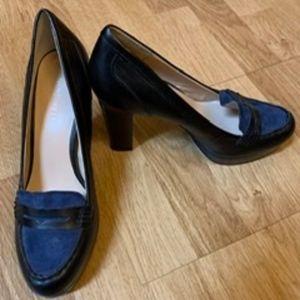 Women's suede/leather heels